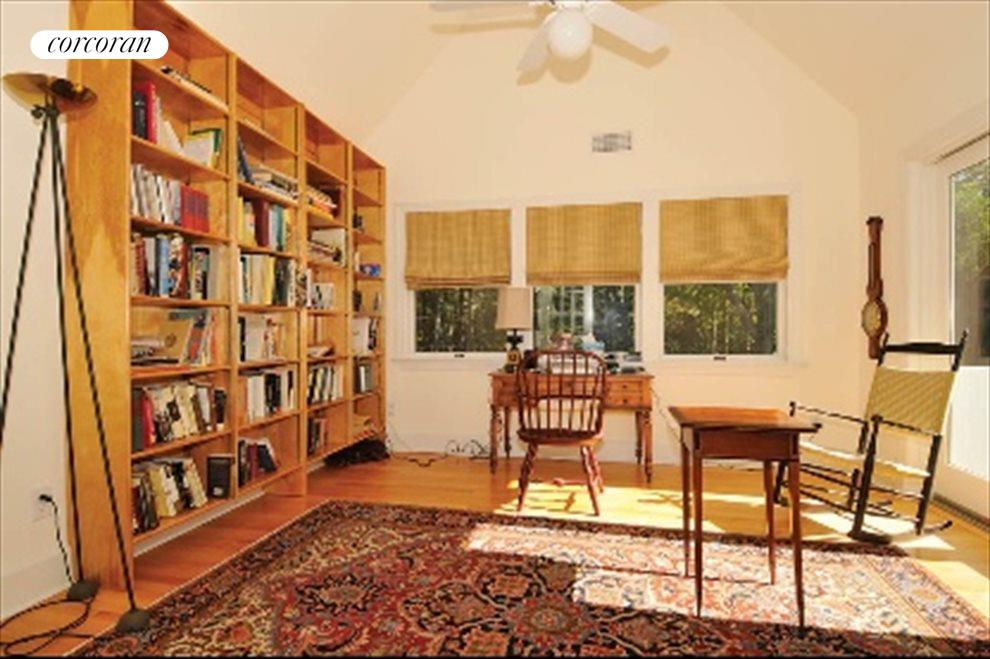 Master bedroom has its own study
