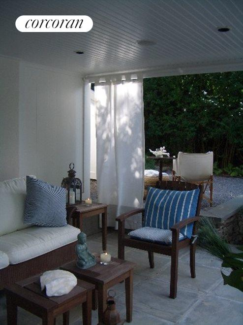 Outdoor seating area / covered porch