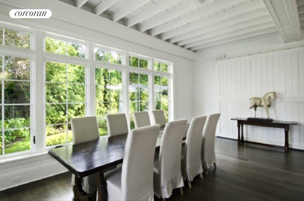 Original beamed ceiling Huge Windows