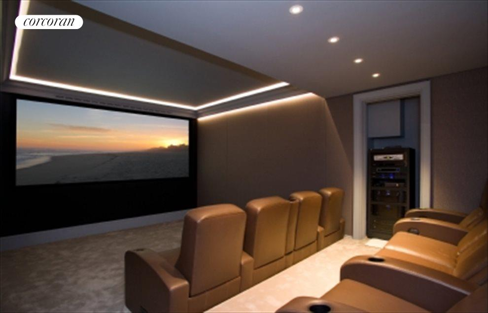 Hi-Def Home Theatre w/ Leather Recliners