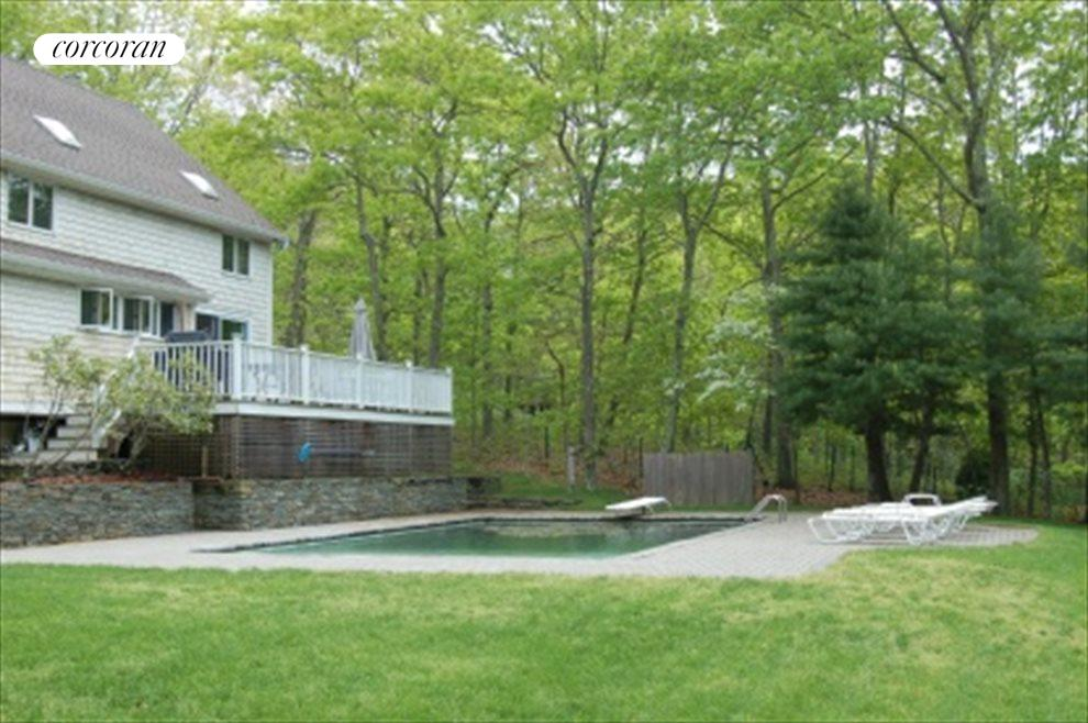 Heated Pool with Stone Wall