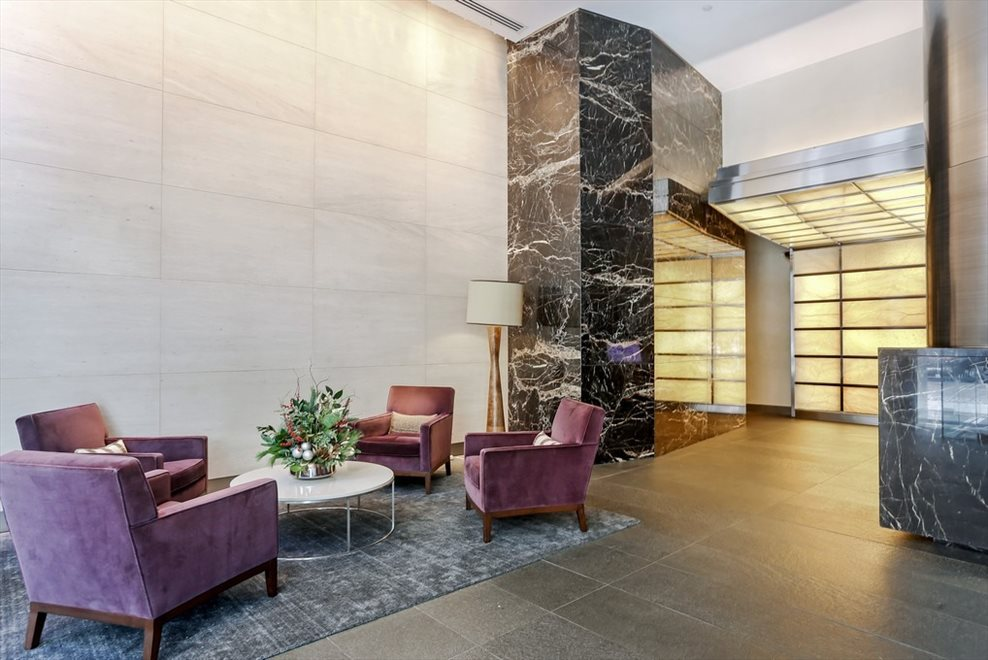 New York City Real Estate | View 30 West Street, #28B | Building Lobby