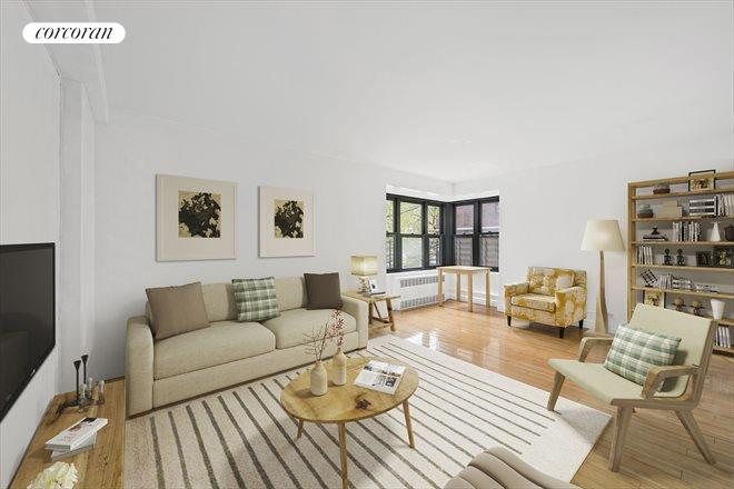212 East Broadway, G205, Living Room