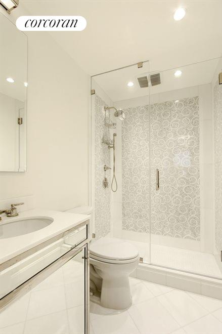 Gorgeous Bathroom with Thassos Marble and Mosaic