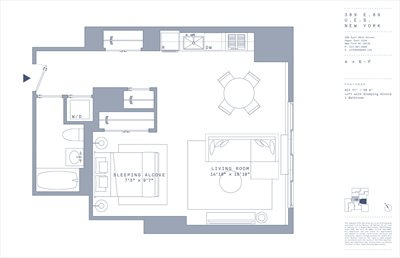 New York City Real Estate | View 389 East 89th Street, 5F | Floorplan