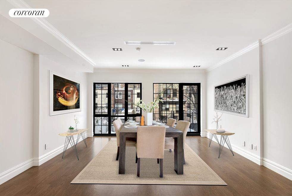 Dining Space Featuring A Wall of Windows