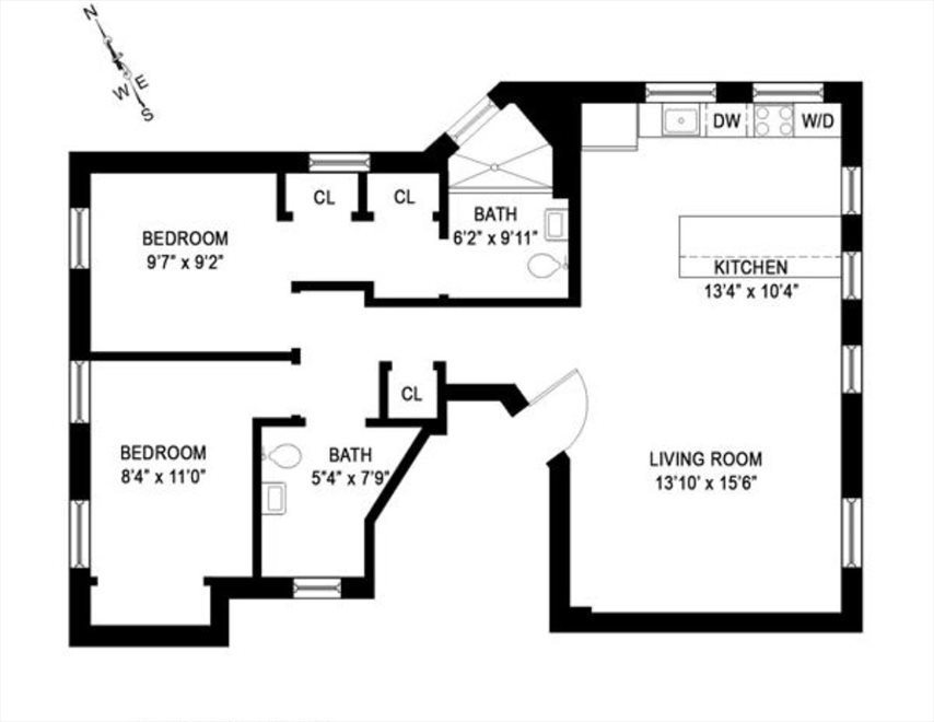 New York City Real Estate | View 417 Manhattan Avenue, #7 | Floorplan