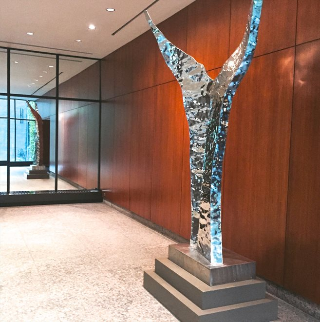 Colonnade 57 Apartment Building | View 347 West 57th Street | Stunning lobby sculpture