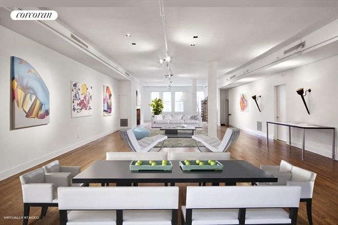 5 East 17th Street, Remarkable 2000 SF Living Room w WBFP