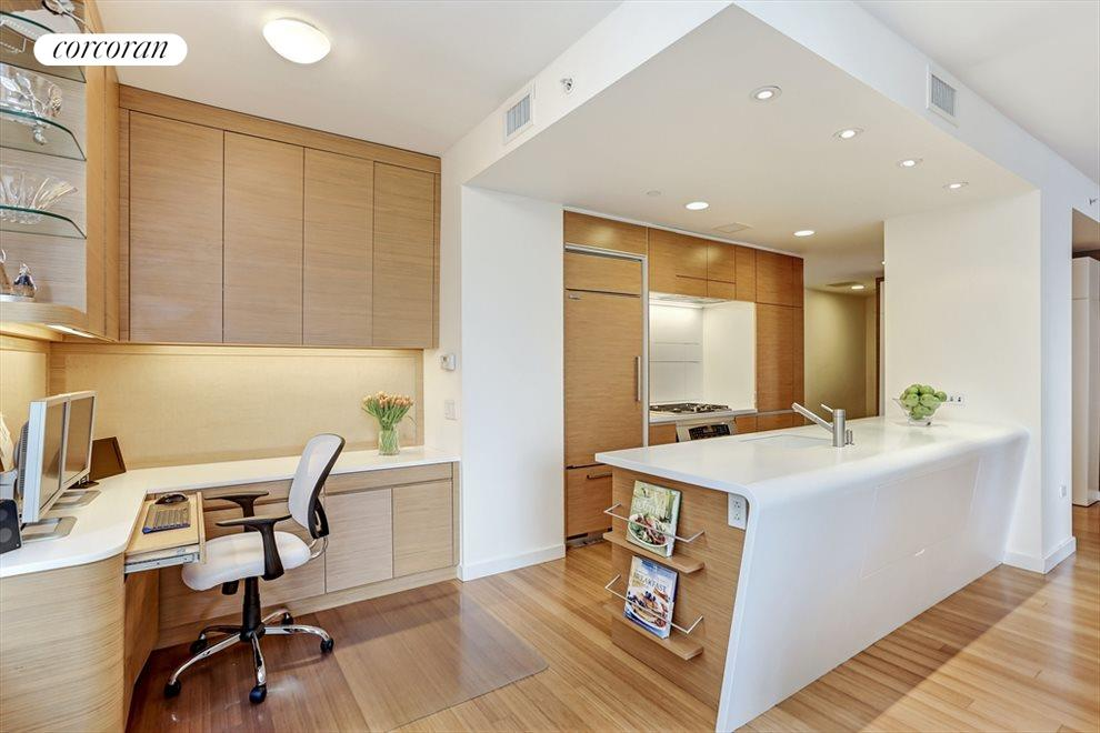 Open Kitchen with Built-in Home Office