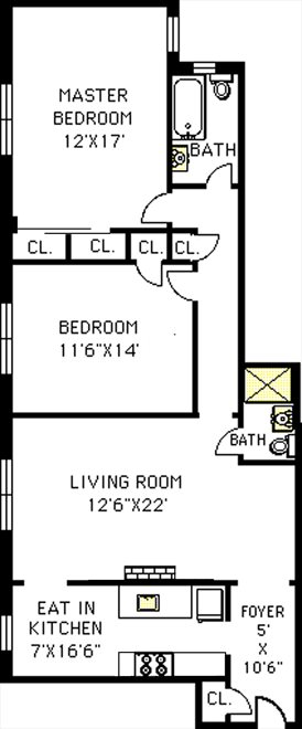 New York City Real Estate | View 148-09 Northern Boulevard, #6D | Floorplan