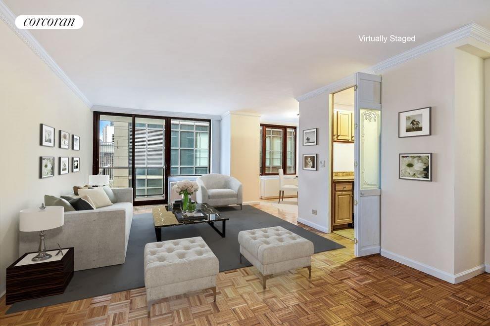 Great Floor Plan! Living Room with Powder Room