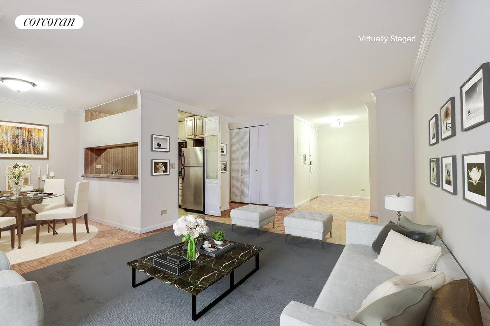 Large Living Room with Dining Alcove and Foyer