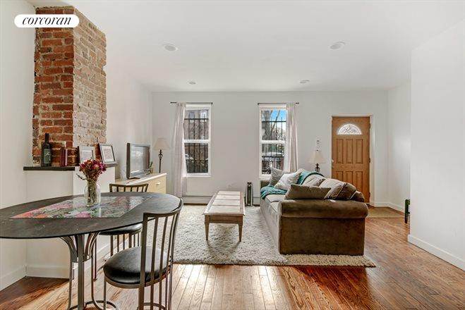 659 Madison Street, Living Room with Exposed Brick