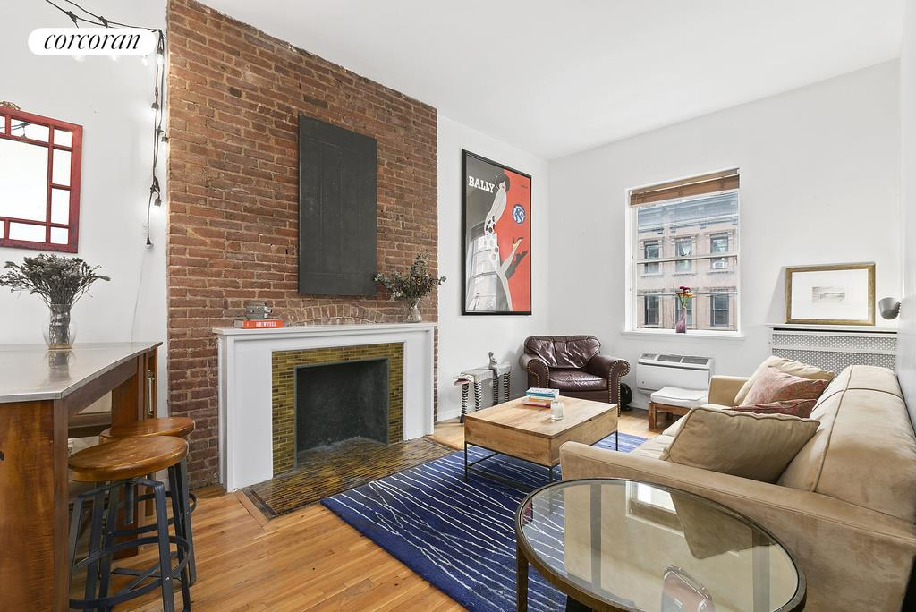 46 West 71st Street, 3A, Spacious living room w gorgeous tile decorative FP