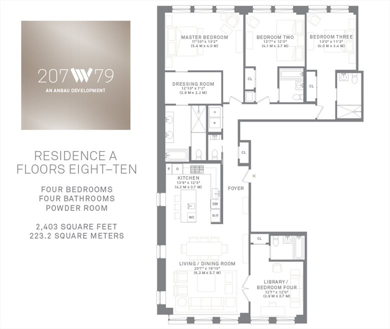 New York City Real Estate | View 207 West 79th Street, #9A | Floorplan