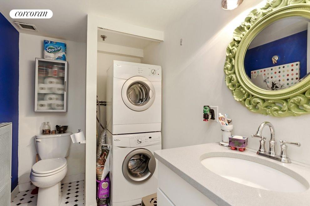 Guest Bathroom with Washer and Dryer