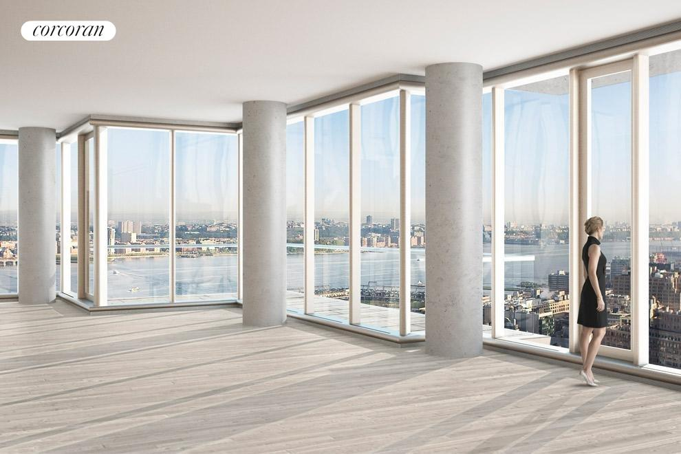 New York City Real Estate | View 56 LEONARD ST, #40A EAST | Soaring ceilings and floor-to-ceiling glass window walls