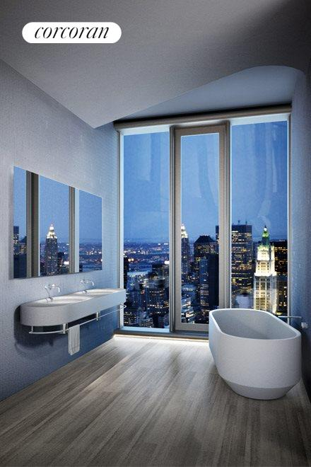 New York City Real Estate | View 56 LEONARD ST, #40A EAST | Master Bath custom-designed by Herzog & de Meuron
