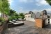 Furnished roof deck with cabanas & showers