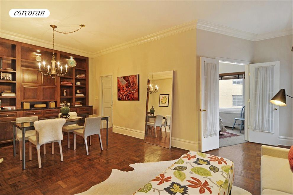 """Gracious Living Room with 9' 8"""" Ceiling Height"""