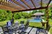 63 Ferry Road, Pergola overlooking pool and 3-car garge/pool house