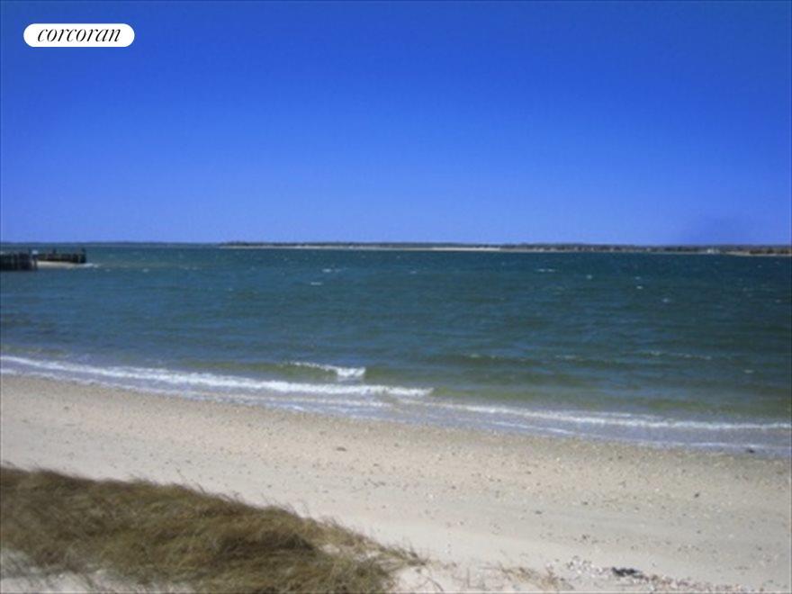 Community beach looking west