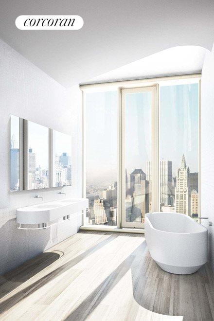 Master Bath custom-designed by Herzog & de Meuro