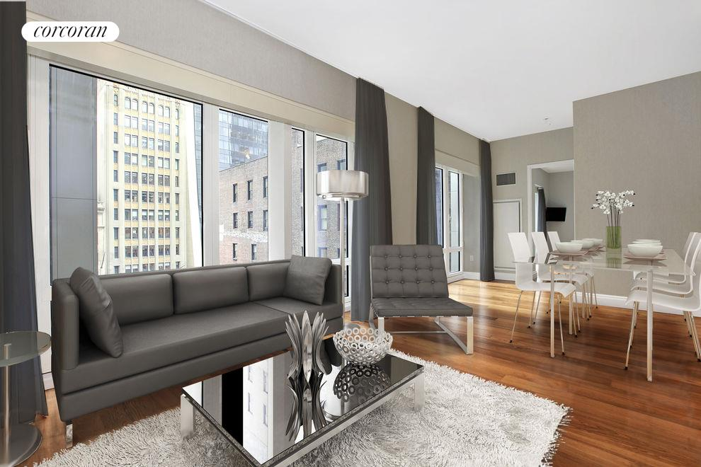 33 West 56th Street, Apt. 7E, Manhattan (05 Virtually Staged Living Dining FINAL)