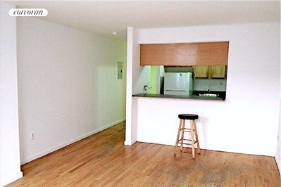Studio with Separate Open Windowed Kitchen
