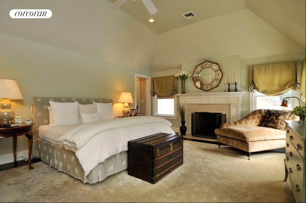 Master suite with fireplace