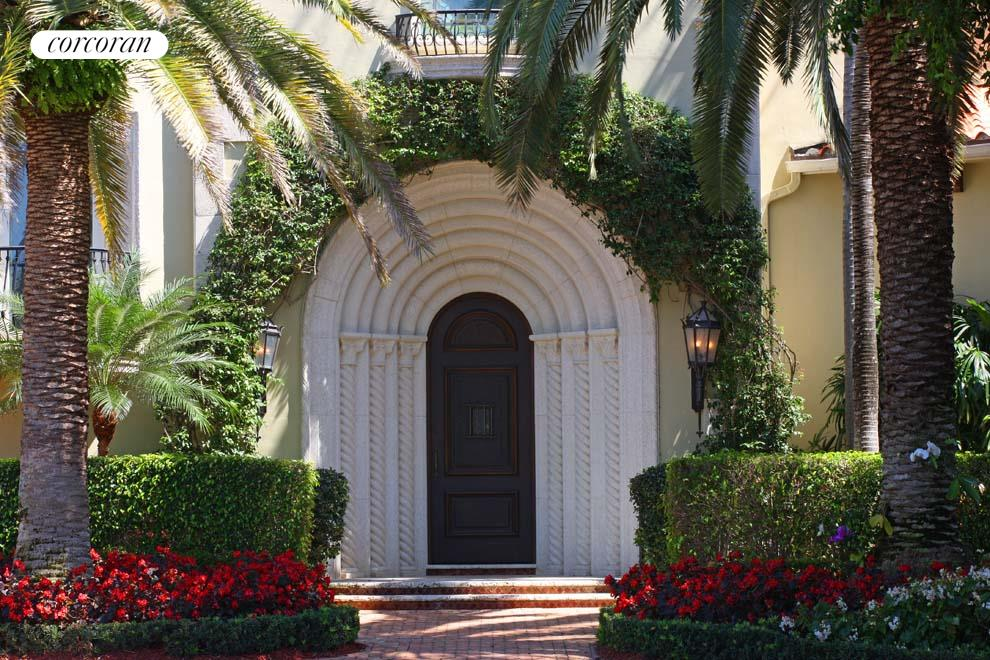 Gorgeous entrance with custom stone work