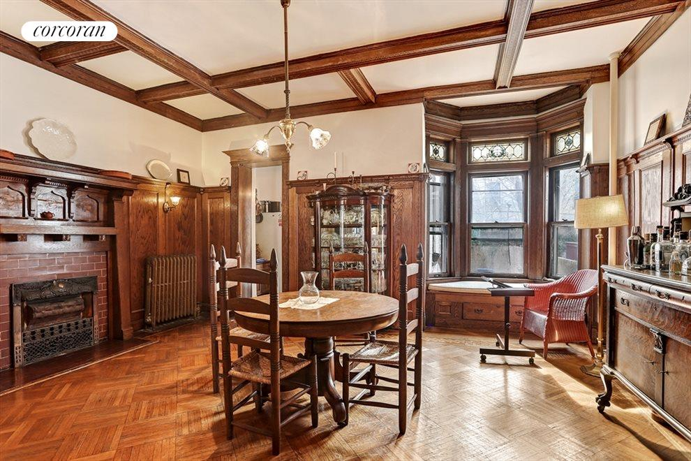 Formal Dining Room with Stained Glass