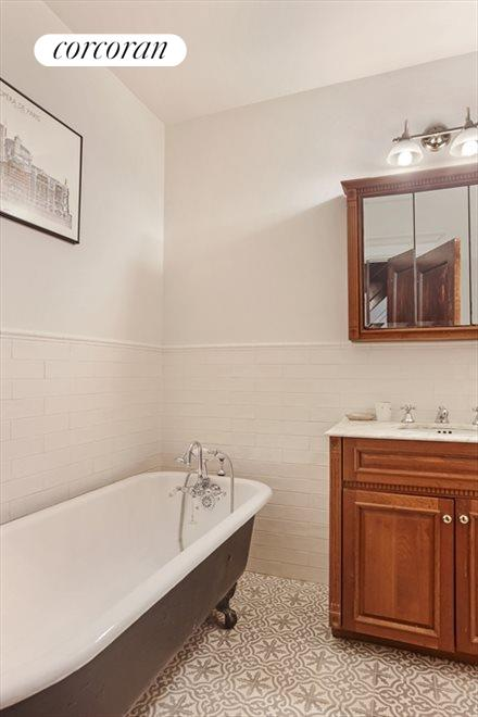 Renovated Bathroom with Moroccan Tiles