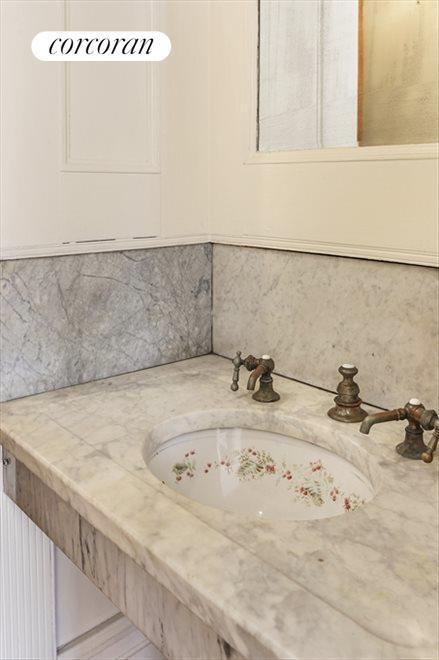 Original Marble Shaving Sinks in Dressing Rooms