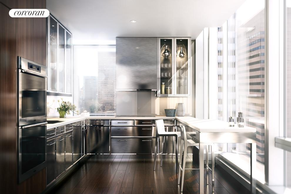 20 West 53rd Street, 27A, Separate SieMatic kitchen customized by Ingrao