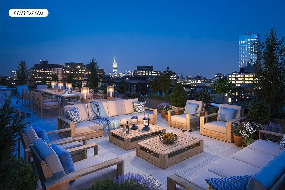 New York City Real Estate | View 70 VESTRY ST, #PHS | Over 3,600 square feet of private outdoor space