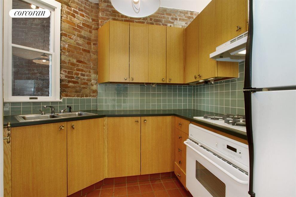 Large windowed kitchen
