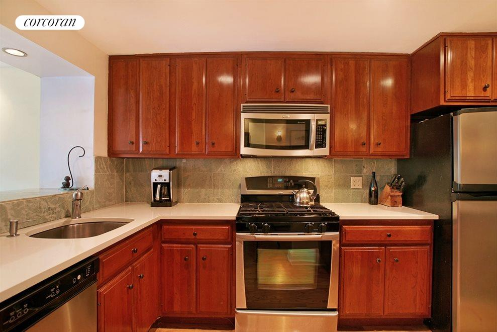 Renovated kitchen with two pass thrus