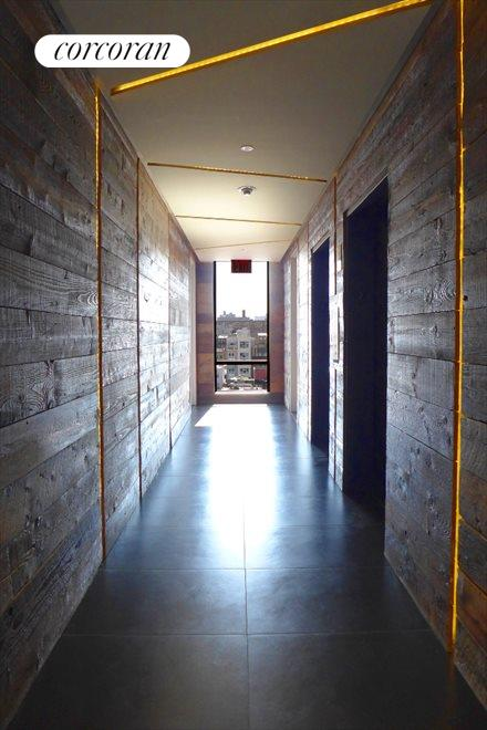 Rustic yet Modern Common Hallways