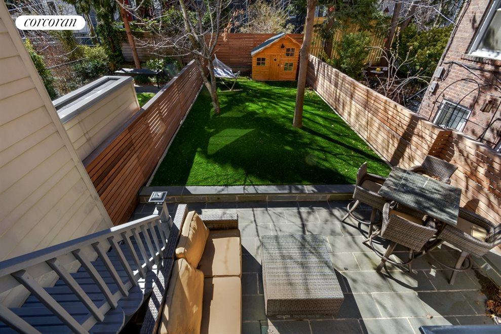 Bluestone Patio & Lush Backyard
