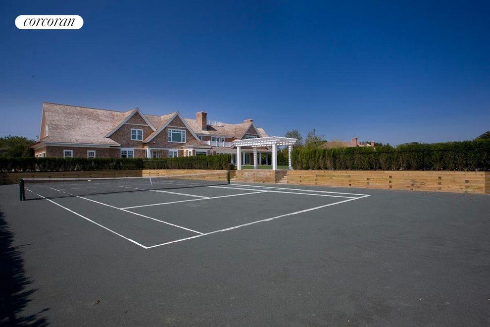 sunken har-tru tennis court