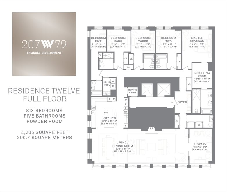 New York City Real Estate | View 207 West 79th Street, #12 | Floorplan