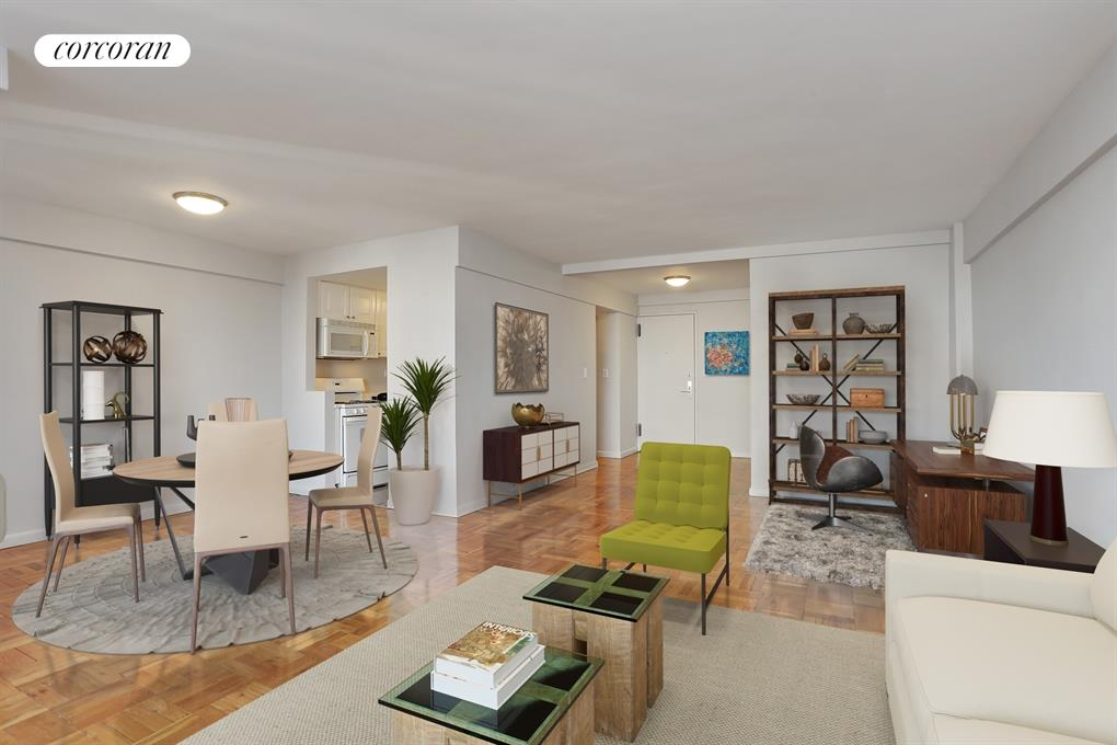 420 East 64th Street, E10E, Living Room