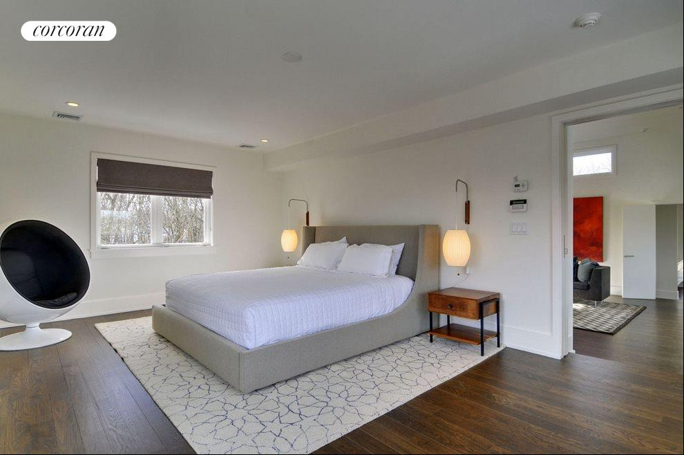 Master suite occupies the whole floor