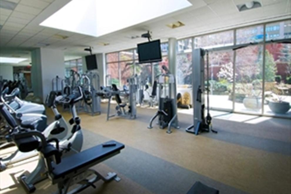 Fitness center overlooking Zen Garden!