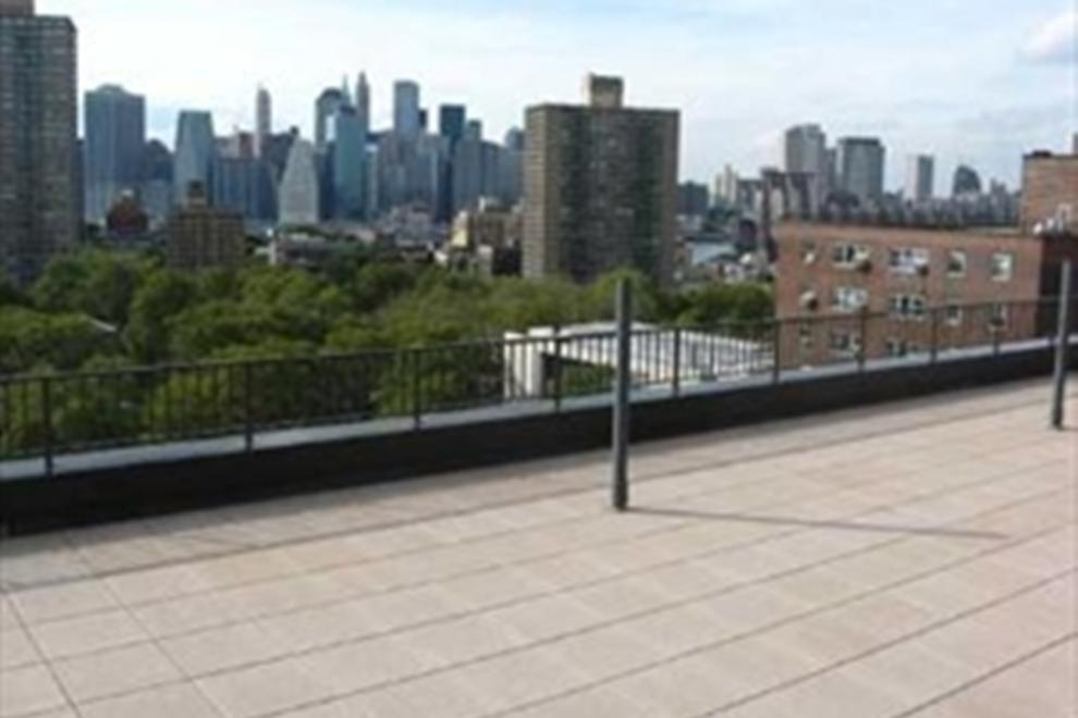 Roof deck with pavers and 360 degree views!