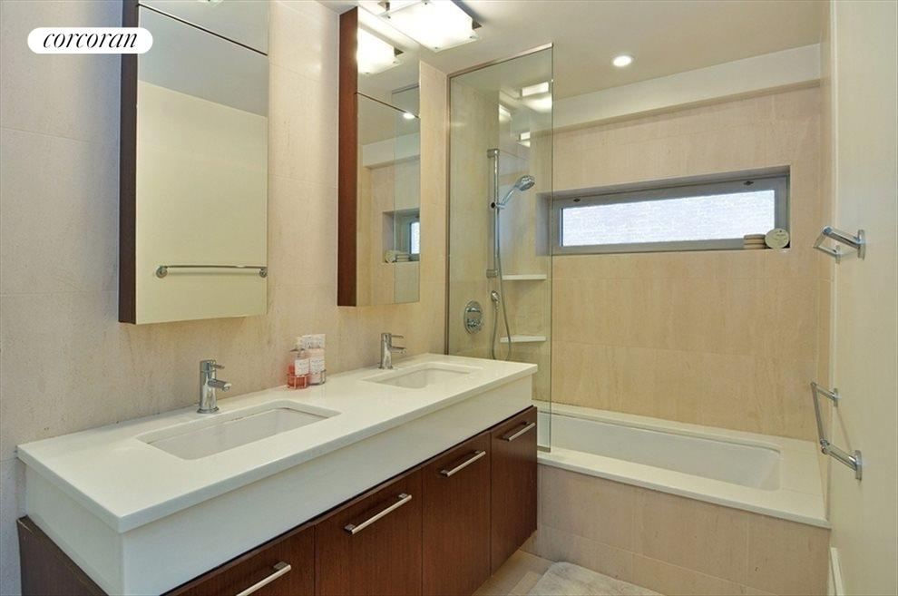 Four piece bathroom with double vanity