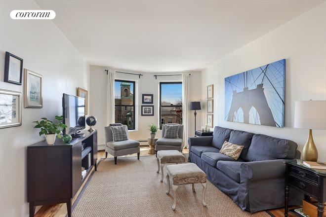1496 BEDFORD AVE, 4D, Spacious and sunny east-facing living room