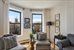 1496 BEDFORD AVE, 4D, Living room with quintessential Brooklyn views